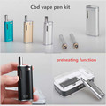 E cigarette preheat cbd pen adjustable voltage battery mod 510 glass vape oil cartridge C10 CBD oil pen