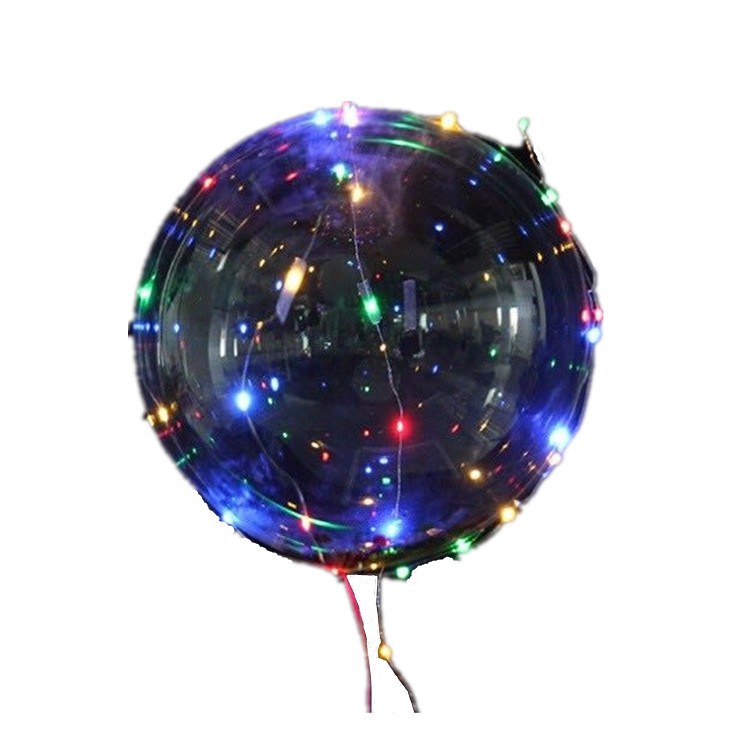 Halloween Decoration LED christmas Light Inflatable Transparent Bobo Balloon