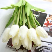 Home Decoration Artificial Flowers Fake Flowers Real touch PU Mini Tulip Flower Single Stem