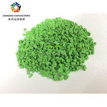 green epdm rubber granules for filling artificial grass