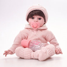 Full Body Silicone Lifelike Newborn 20inch 50cm Realistic Reborn Baby Dolls , 20inch 50cm Weighted Baby Girl or Boy Doll