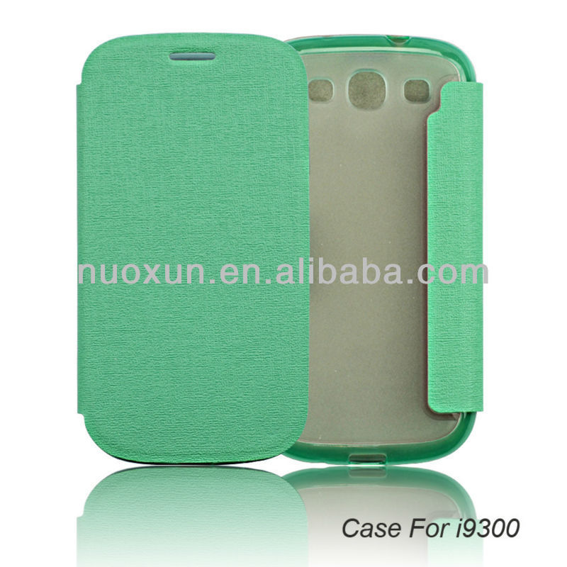 2014 beautiful leather book case for samsung galaxy s3 i9300