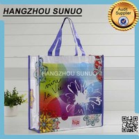 print your own logo laminated pp woven shopping tote bag