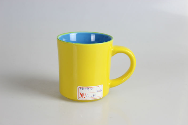Chinese Language Travel Mugs Mug Yellow Ceramic Mug Mouth Muffle 13oz Cup 380ml 13oz CE Certificate of Conformity Machine C-80