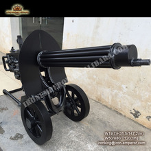 Retro industrial style decorative DIY to customize macqin heavy machine guns sculpture in sculptures