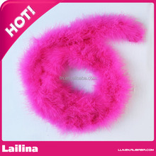 Most Popular Rose Long Sexy Ostrich Feather Boa/Cheap Ostrich Feather Boas for Holiday Decoration