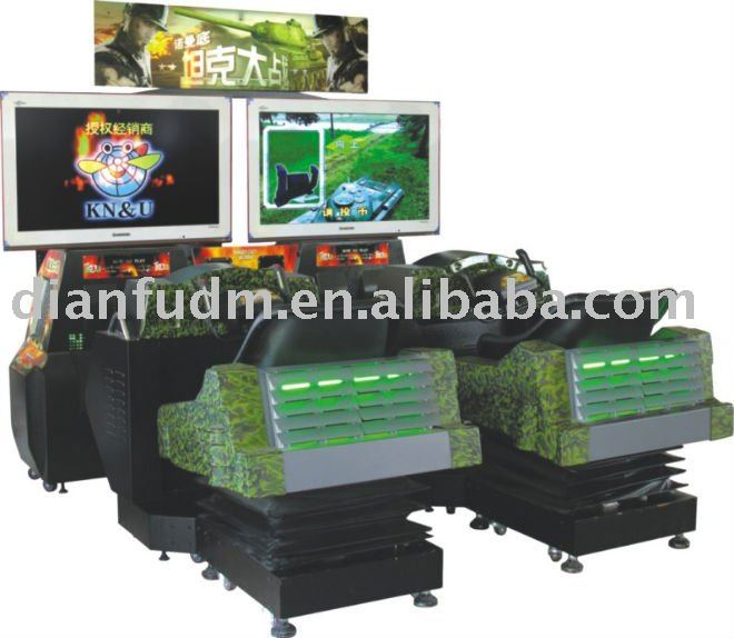 Tank war game video real simulator arcade game machine