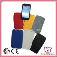 GSV SEDEX Factory cheap wholesale handmade hot sale non woven felt cell phone case