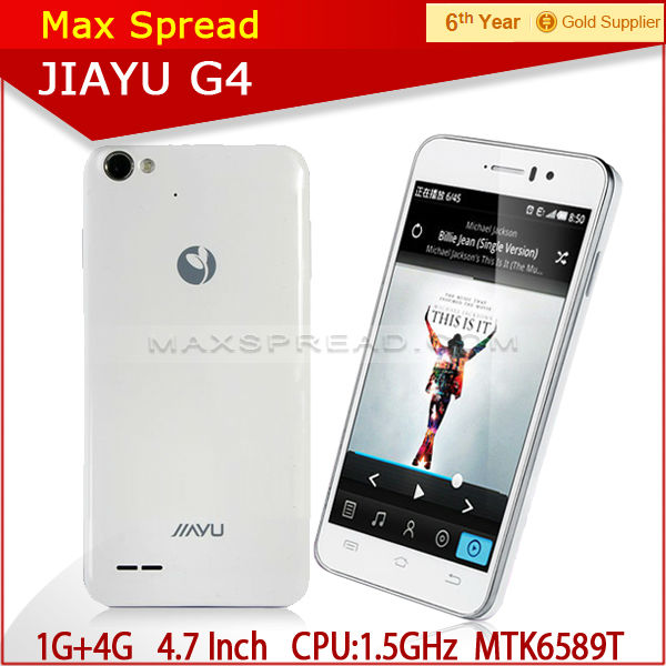 mobile phone JIAYU G4 mtk6589t android 3G bar 3000mah quad core 1.5GHz cheap cell phones