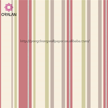 Factory Price 2017 Stripe luxury PVC Wallpaper with Vinyl material