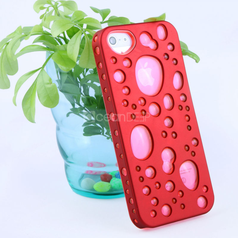 2013 Newest design tpu&pc 2 in 1 snap-on combo case for Apple iphone 5