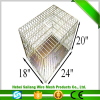 High Quality Foldable Heavy Duty Stainless Steel wire mesh dog cages
