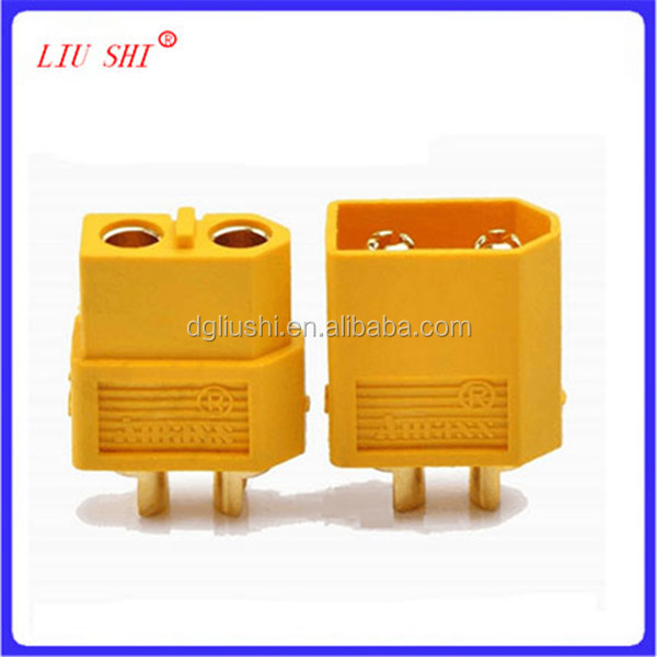 yellow XT60 Male and Female Bullet Connectors Plugs for RC Lipo Battery