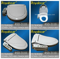 Electrical Novita Bidet Attached with Royal White Vitreous Toilet Seat Wooden Toilet Seat Cover
