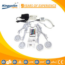 Kit package led cabinet light 12V 1.5W 2W round 4 pcs one set for cabinet kitchen light all in one screwdriver set