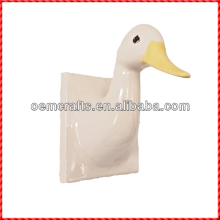 2013 animated duck shaped ceramic wall hanging craft for kids