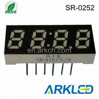 0.25 inch 4 digit 7 segment led digital display for mini speaker card speaker