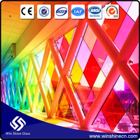 Professional clear and color laminated safety glass with CE & ANSI certification