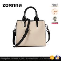Wholesale Women Brand Quality Genuine Leather Plain Tote Bag Handbag for Lady