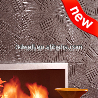 3D wallpapers decoration wooden painted gypsum coloring