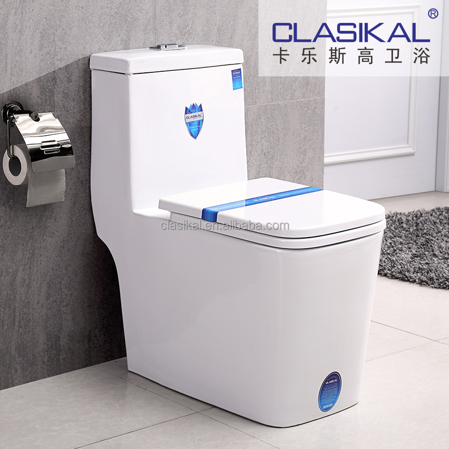 CLASIKAL Sanitary ware high quality with UF cover ceramic siphonic one piece toilet