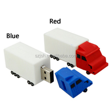 Fashion Silicone Truck Shape 2.0 USB Flash Memory For Promotion Giveway