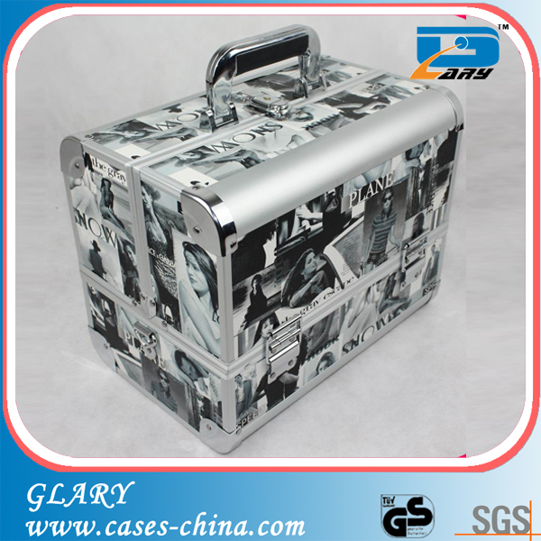 New designed aluminum cosmetic case in BSCI audit supplier, beauty cosmetic case