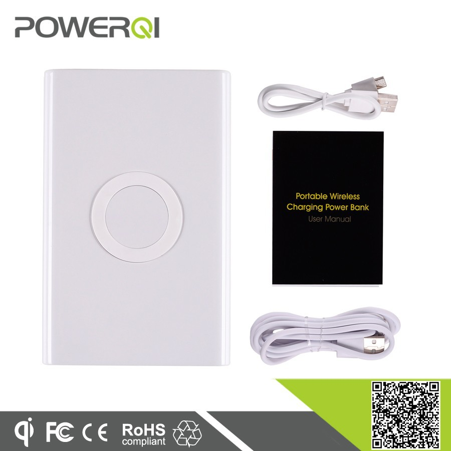 mobile phone accessories factory in China wireless qi charging power bank for iphone 5s