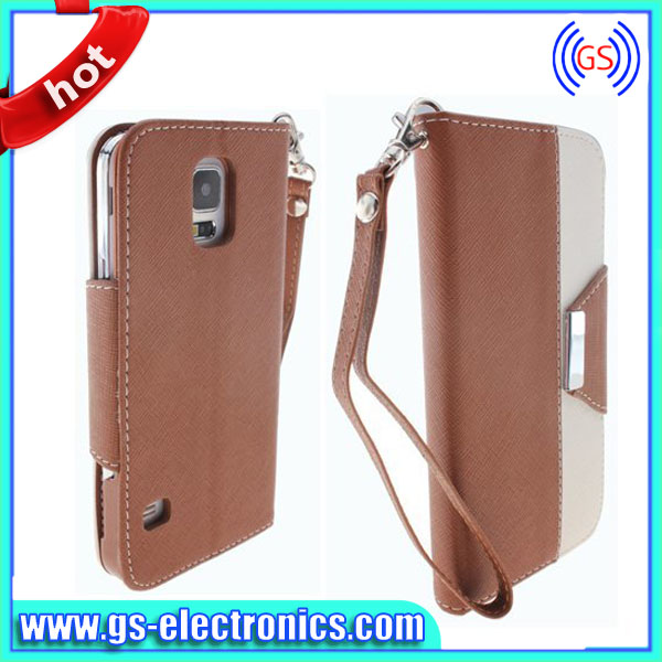 PU flip leather cover case for samsung galaxy trend duos i7562