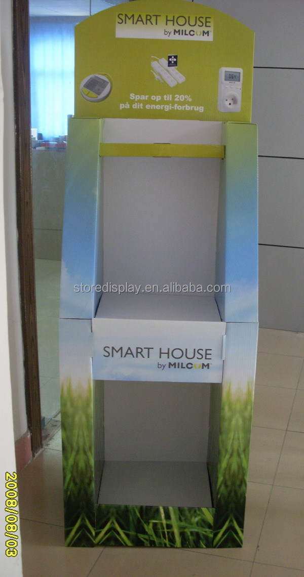 Smart House Point of Sales Cardboard Display /Pop up Display Stand /Corrugated Paper Display Case