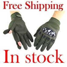 Touch Screen Tactical Airsoft Military Paintball Army Carbon Motorcycle Bicycle Protective Hard Knuckle Full Finger Gloves