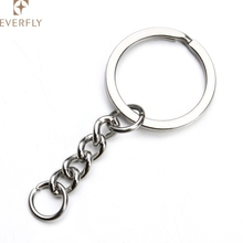 Factory directly wholesale keyrings with chain for keys
