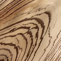 Zebra Nautral Wood Veneer for furniture panel home decoration