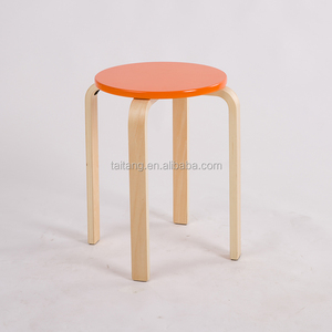 Kids furniture colorful round wooden chair