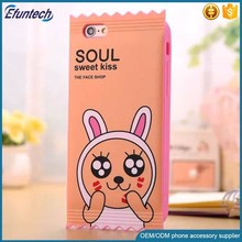 Factory supply candy bags style silicone phone case for iphone 6s