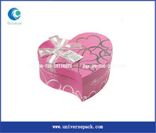 birthday paper cake box with ribbon