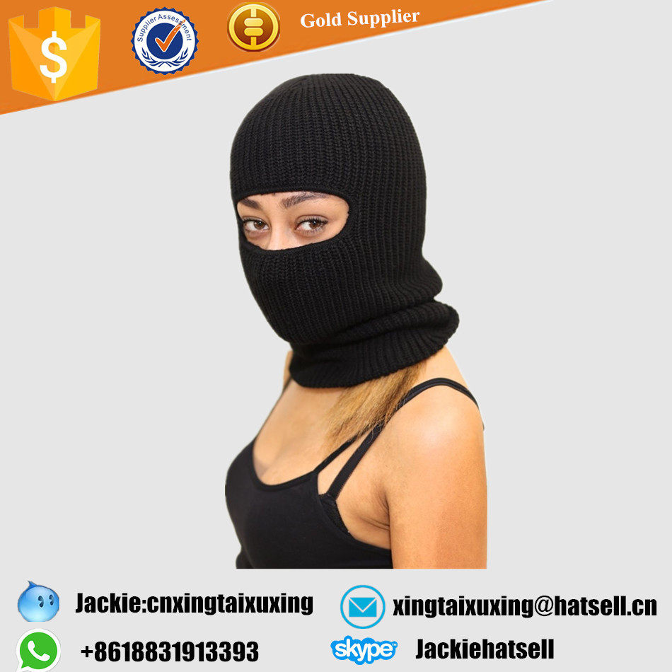 On The Run (tapered neck) ski mask, black - ninja warm long fitted beanie