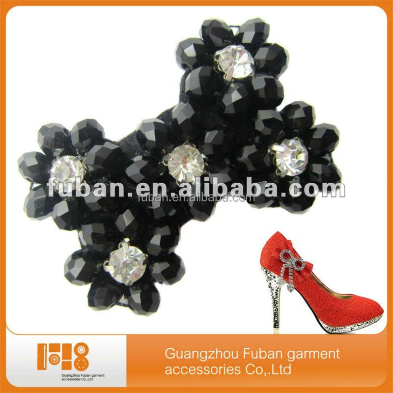 Women's accessories supplier plastic flowers shoes buckles decorations for clip on shoe accessories