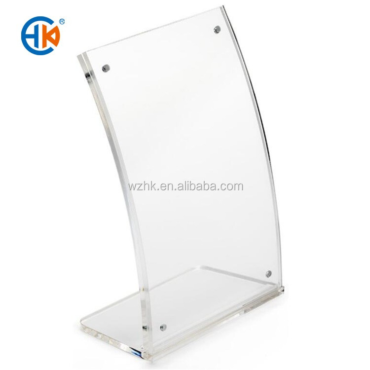 Customized curved clear acrylic photo frame picture frame