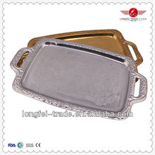 2015 high grae stainless steel serving trays wholesale