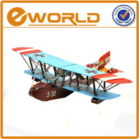 Manually decor public holiday gifts decor toy, household art and craft antique metal model toy plane