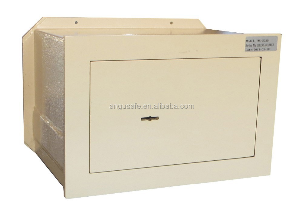 Wall safe box with double bitted key lock WS-2030