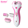 Kemei KM2531 4 in 1 Multifunction Electric Foot Dead Skin Shaver Callus Remover Lady Shaver Hair Removal