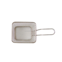 Mini Stainless Steel Rectangular Frying Colander with long handle