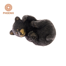 Garden Decoration Polyresin Black Resin Bear