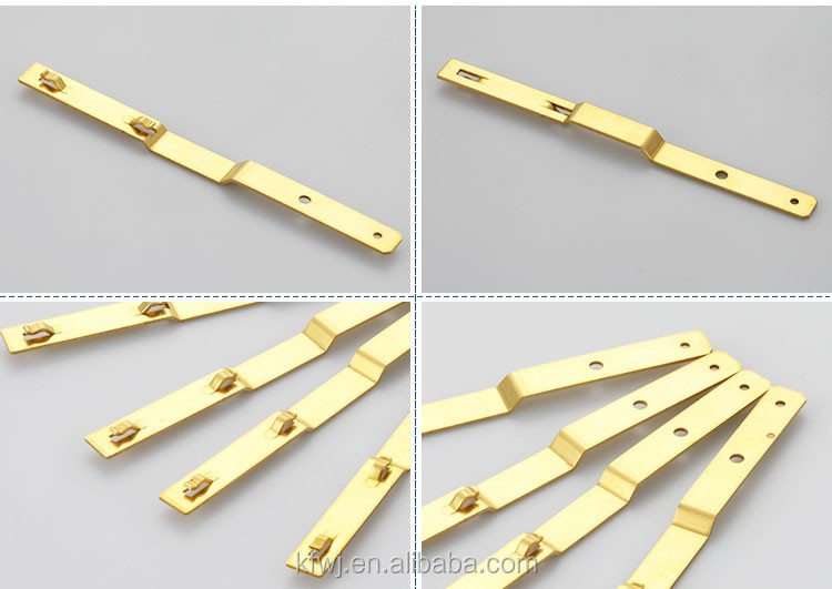 Wall socket brass stamping Clips