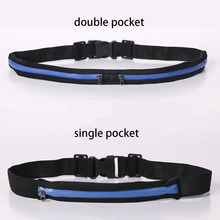 Waterproof hiking waist bag,sport belt bag,running waist pouch with two expandable pockets