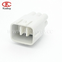 Toyota 6 way white male auto waterproof car connector