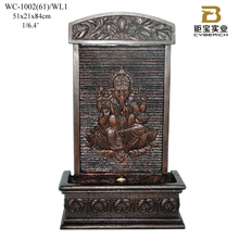 Polyresin buddha wall fountain