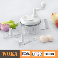 Manual Salad Maker Plastic Food Processor with Egg Whisk Salad Spinner